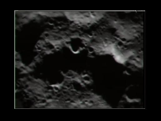 View of moon from LCROSS spacecraft.