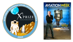 X-Prize Challenge Graphic and Photo of Magazine Cover