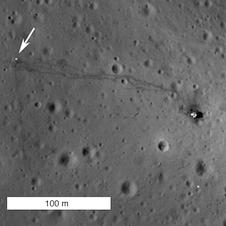 Close-up view of Apollo 14 landing site