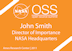 Orange NASA Open Source Summit Badge