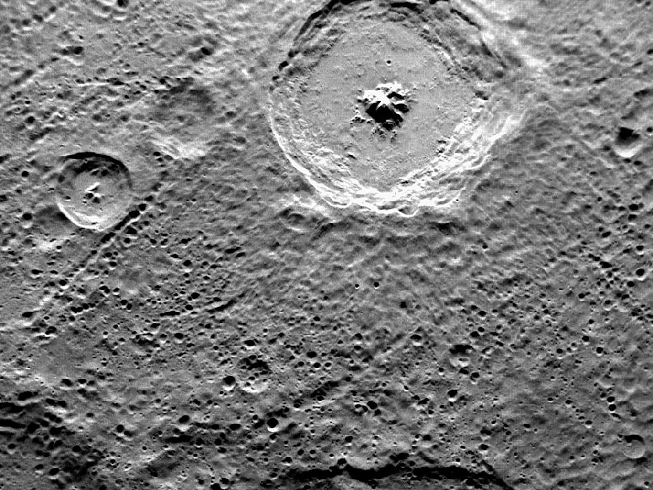 Image from Orbit of Mercury: Toc-crater and Fugue