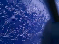 Smartphone photo of Earth from space