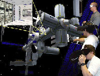 Users Interface with Robotic Missions in a Simulated Virtual Environment.