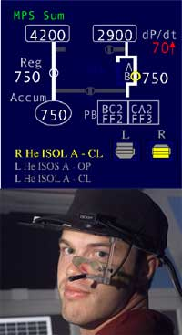 Eye-tracking system provides real-time measurement.