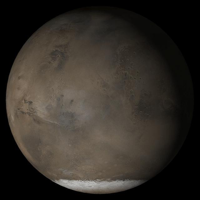 nasa mars southern polar cap