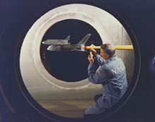 9-foot by 7-foot wind tunnel test