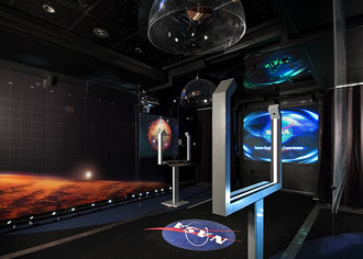 travelling exhibit interior