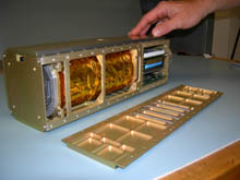 Internal components similar to the NASA GeneBox payload.