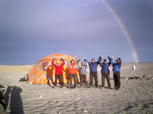 marsdrill team with rainbow