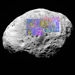 Surface details of Saturn's moon Hyperion
