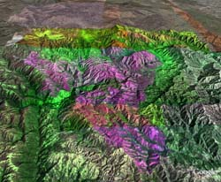 Infrared overlay of the Lick wildfire complex