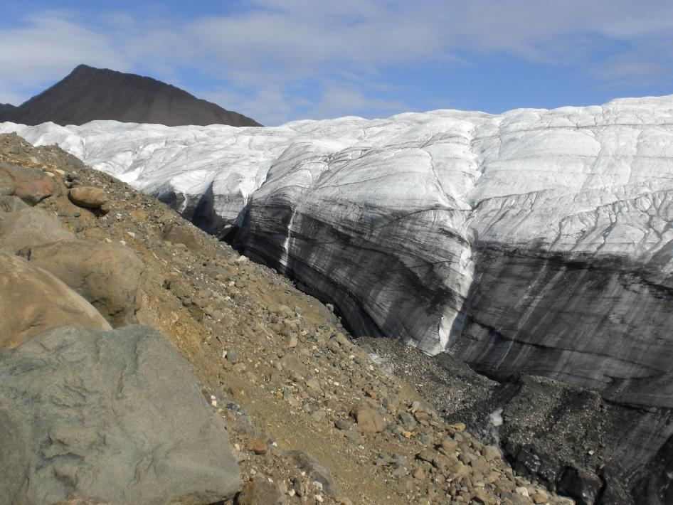 Image of the side of the White Glacier on Axel Heiberg Island