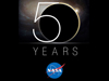 Image of NASA 50th anniversary logo.