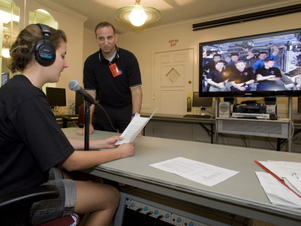 ISU students talk with International Space Station astronauts.