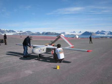 Unmanned aircraft system used in the CASIE mission.