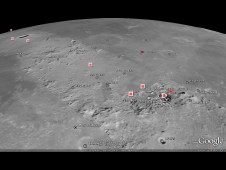 View of high-resolution base map and 3D terrain model covering a strip of the nearside lunar equatorial region, which was developed by the NASA Lunar Mapping and Modeling Project using new digital scans of the Apollo 15 Metric Camera.
