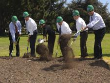 The groundbreaking event for the Sustainability Base at NASA Ames Research Center.
