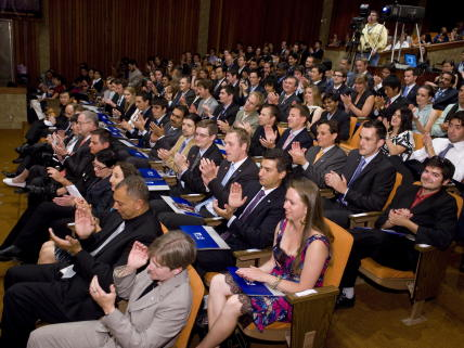 Closing ceremony for the 2009 International Space University session.