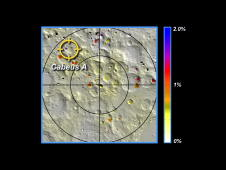 Potential water concentrations on the south pole of the moon