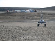 K10 Black operating near the Haughton-Mars Project base camp.