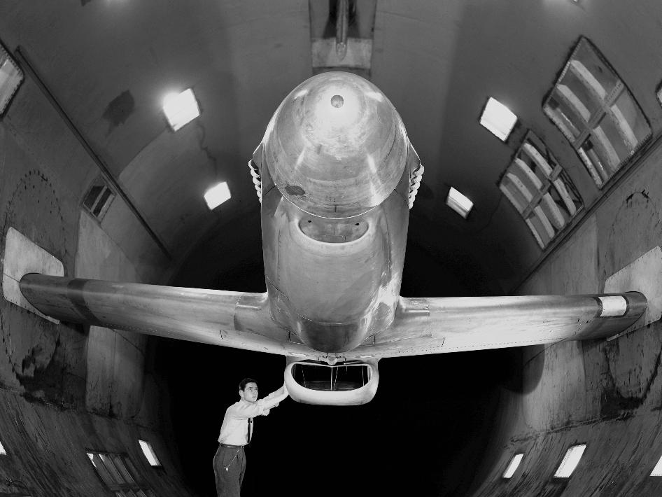 North American XP-51B Mustang in the 16 foot wind tunnel