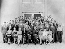 On Aug. 30, 1940 Ames staff posed for a photo in front of the new flight research building.