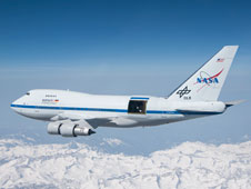 SOFIA in flight with open telescope door