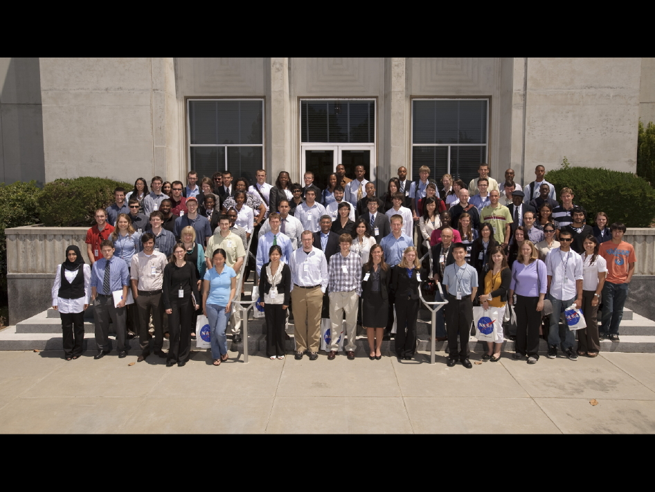 The summer 2010 interns at NASA Ames Research Center.