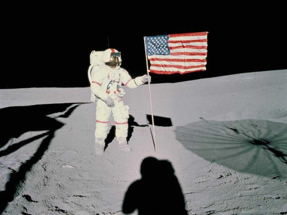 man on the moon from nasa