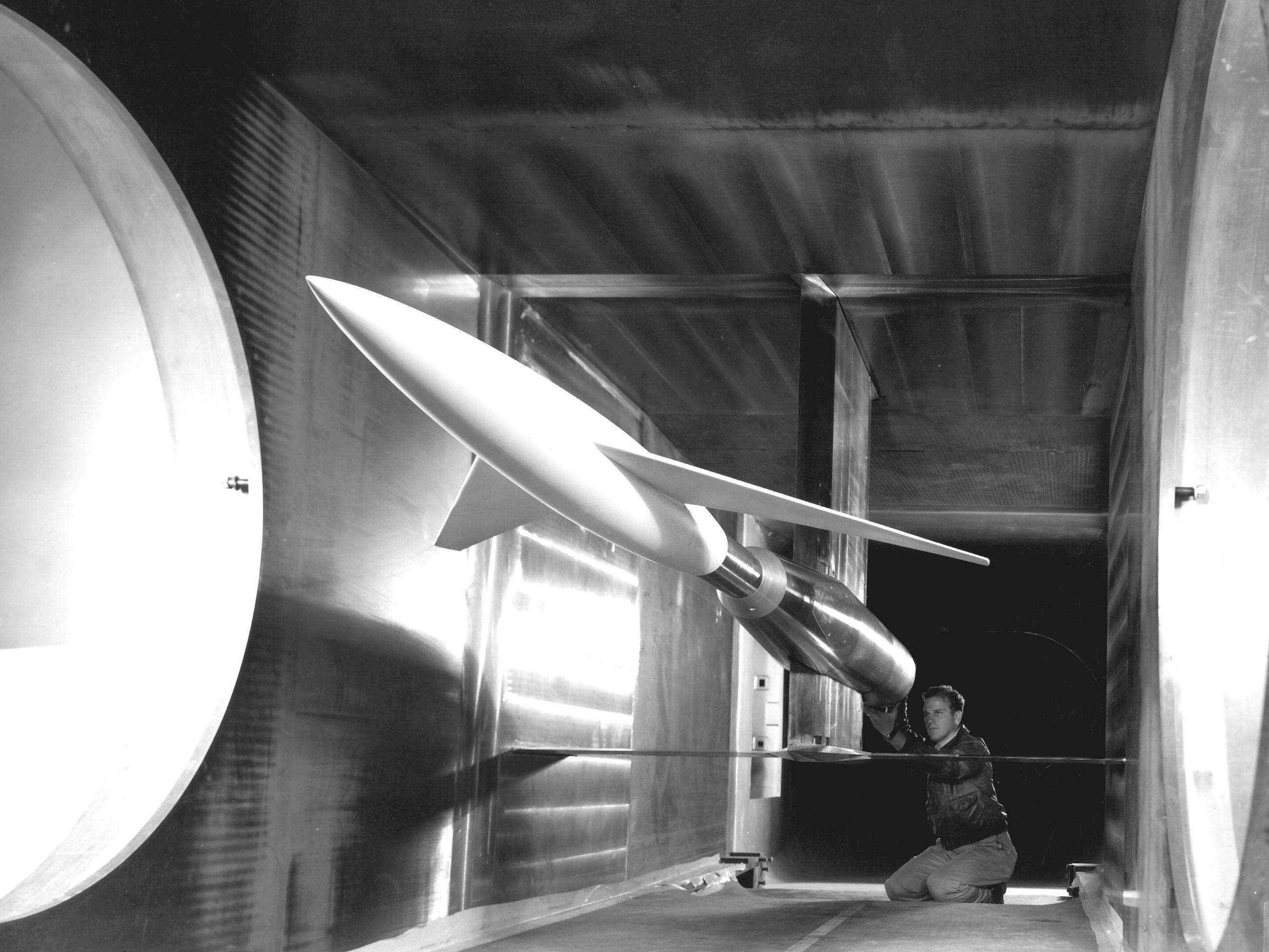 1948 NACA wind tunnel test