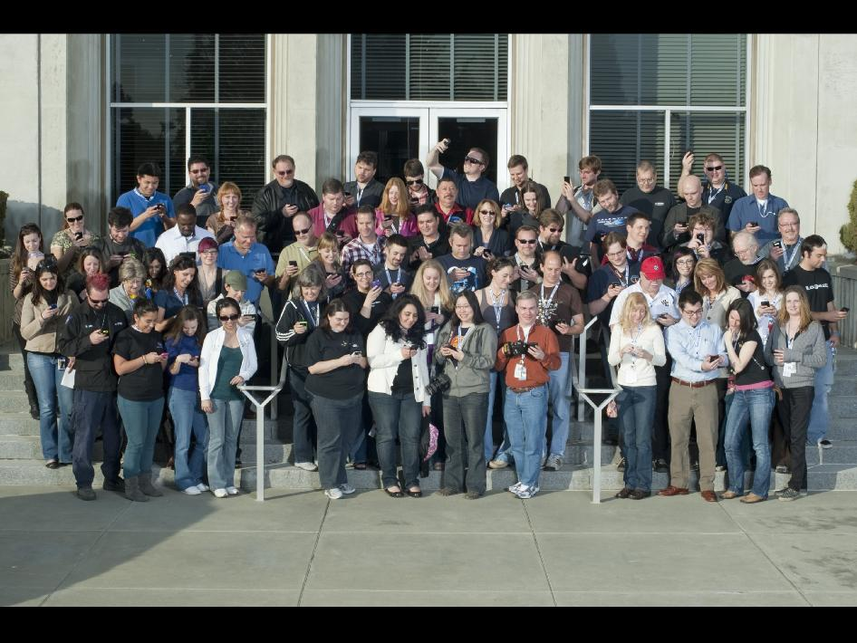 Participants in the NASA Ames Tweetup.
