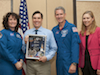 Paul Espinosa receives a Space Flight Awareness Program award.