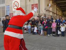 Santa at hangar N211 at cops care annual event