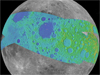 map of the moon showing the Apollo Zone terrain-mapped area