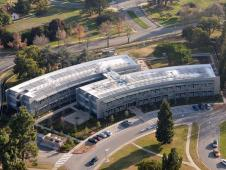 aerial photograph of Sustainability Base at NASA's Ames Research Center