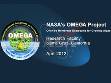 A screenshot of the title screen for the OMEGA video on the Santa Cruz small-scale research facility