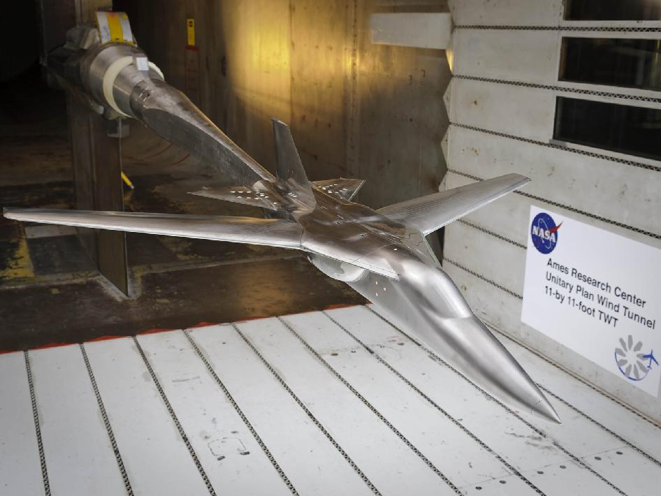Model of FAVOR Check Standard in wind tunnel