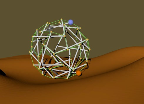 Render of Superball project in movement mode