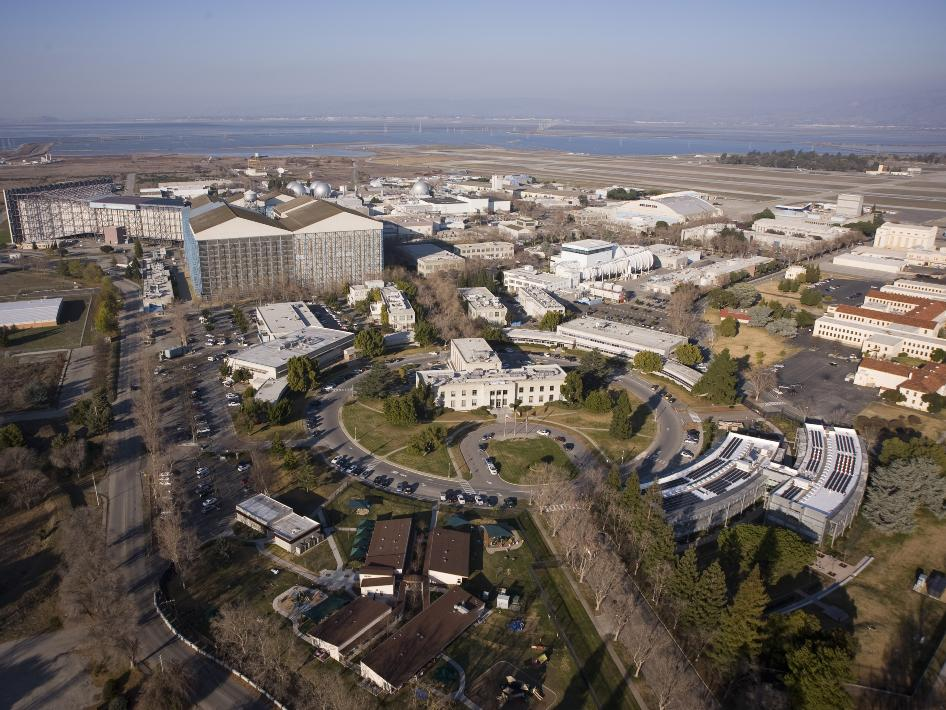 aerial photograph of NASA's Ames Research Center