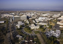 A 2012 aerial image of NASA's Ames Research Center.
