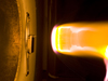 Arc Jet test of thermal protection system sample