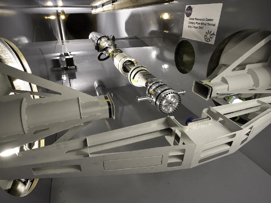 Model of CEV-26 test in 9-by 7-foot Wind Tunnel at NASA Ames.