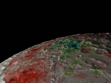 LRO-based map of the south pole of the moon.
