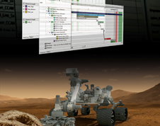 Mars Science Laboratory InterfaCE (MSLICE) screen and the Curiosity Rover