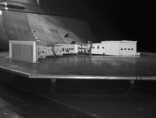 A 1/50th scale NFAC modification model tested in the 40x80 ft test section of the NFAC.