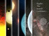 A timeline of Kepler discoveries with artist concept images.