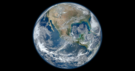 A composite image of the Earth.