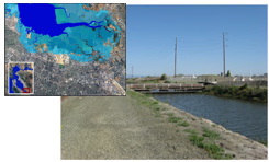 salt pond images and map