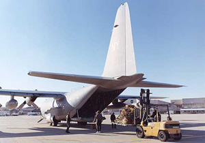 Navy C-130 delivering tools at Dryden