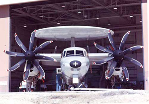 U.S. Navy E-2C Hawkeye at Dryden